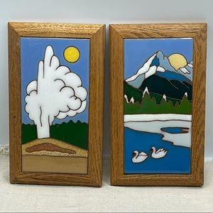 Siegel Arts Old Faithful Yellowstone Art Tile Set